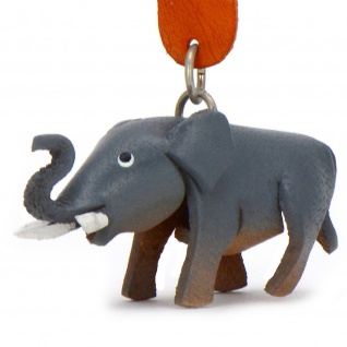 Afrikanischer Elefanten Schl?sselanh?nger aus Leder