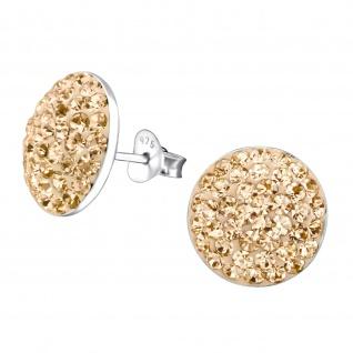 Runde Ohrringe aus 925 Silber