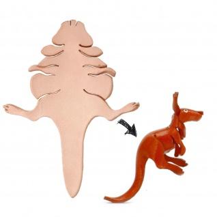 K?nguru Figur aus Leder zum Selbermachen