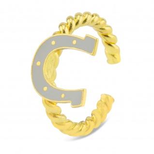 Hufeisen Gl?cksbringer Ring vergoldet