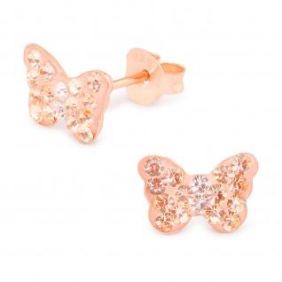 Schmetterling Ohrringe aus 925 Silber