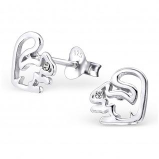 Eichh?rnchen Ohrringe aus 925 Silber mit Kristall