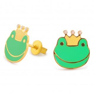 Froschk?nig Ohrringe vergoldet