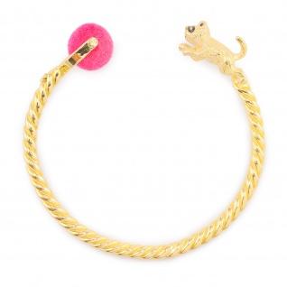 Katzen Armband vergoldet