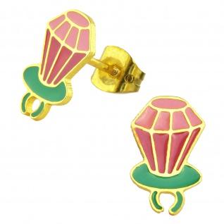 Juwelen Ohrringe vergoldet