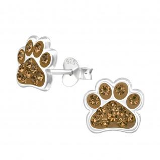 Pfoten Ohrringe aus 925 Silber