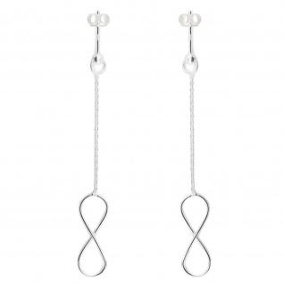 Unendlichkeitszeichen Ohrringe aus 925 Silber