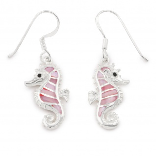 Seepferdchen Ohrringe aus 925 Silber