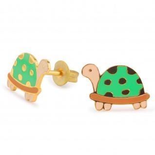 Schildkröte Ohrringe vergoldet
