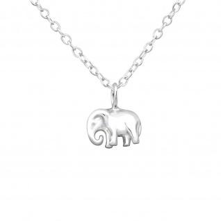 Asiatische Elefanten Halskette aus 925 Silber