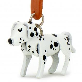 Dalmatiner Hunde Schl?sselanh?nger aus Leder