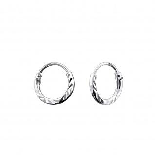 Mini Creolen Kinder-Ohrringe aus 925 Silber