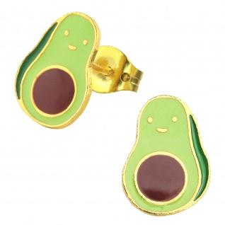 Avocado Ohrringe vergoldet