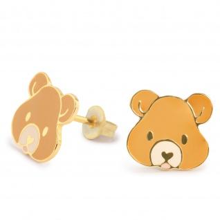 B?r Ohrringe vergoldet