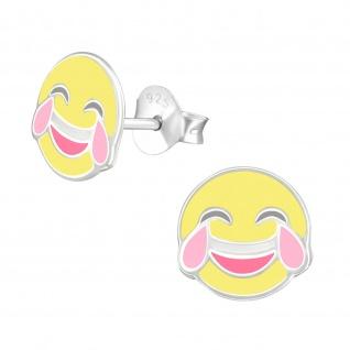 Emoji Ohrringe aus 925 Silber