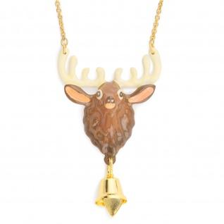 Rentier Halskette 18k Gold plattiert