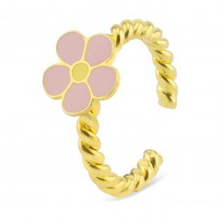 Blumen Ring vergoldet