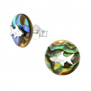 Hai Ohrringe aus 925 Silber