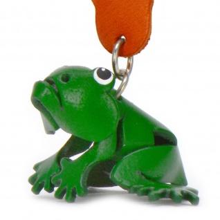 Frosch Schlüsselanhänger aus Leder