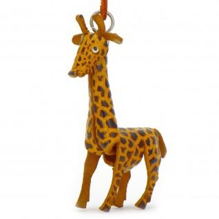 Giraffen Schl?sselanh?nger aus Leder