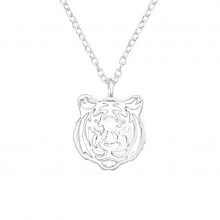 Tiger Halskette aus 925 Silber