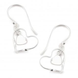 Herz Ohrh?nger Ohrringe aus 925 Silber