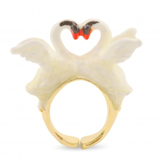 Schwan Ring vergoldet