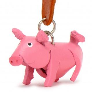 Schwein Schl?sselanh?nger aus Leder