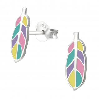Feder Kinder Ohrringe aus Silber