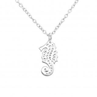 Seepferdchen Halskette aus 925 Silber