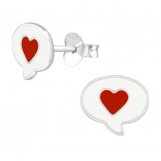 Herz Ohrringe aus 925 Silber