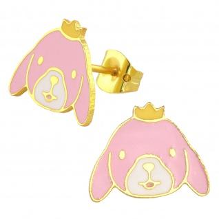 Kaninchen Ohrringe vergoldet