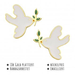 Tauben Ohrringe vergoldet - Vorschau 2