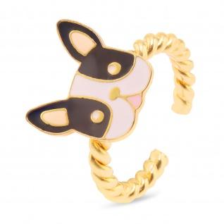 Bulldoggen Ring vergoldet