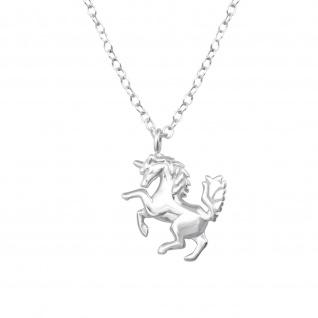 Pferd Einhorn Halskette aus 925 Silber