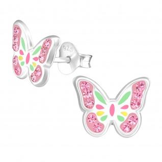 Schmetterling Kinder Ohrringe aus Silber