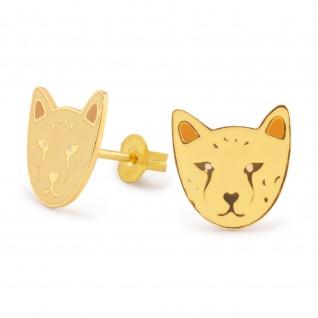 Tiger Ohrringe vergoldet