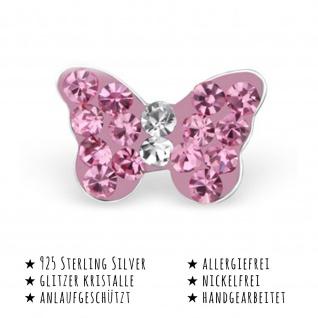 Schmetterling Ohrringe aus 925 Silber - Vorschau 2