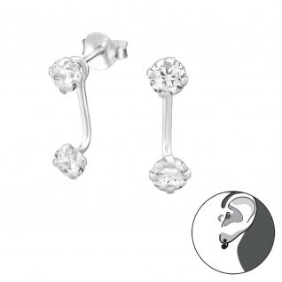 Zirkonia Ohrringe aus 925 Silber