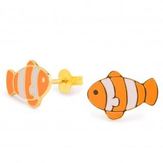 Clownfisch Ohrringe vergoldet