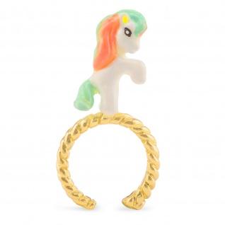 Pferde Ring vergoldet