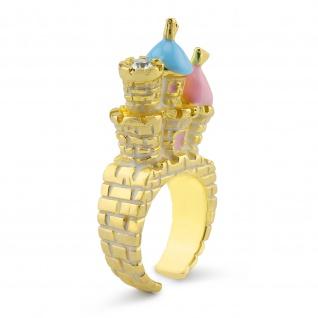 Schloss Ring vergoldet