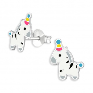 Zebra Kinder Ohrringe aus 925 Silber