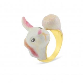 Hasen Ring vergoldet