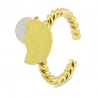 Huhn Ring vergoldet