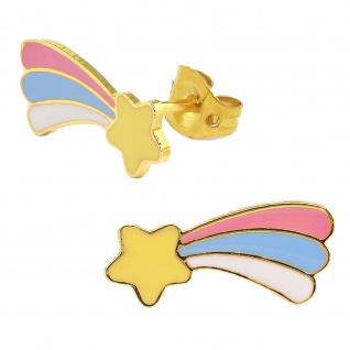 Sternschnuppen Ohrringe vergoldet