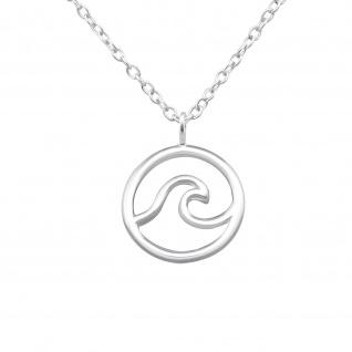 Surfer Halskette aus 925 Silber