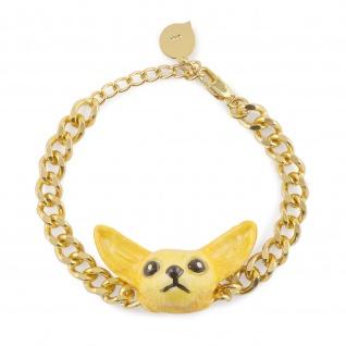 Fennek Fuchs Armband vergoldet