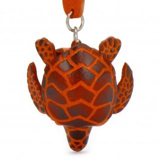 Schildkröten Schlüsselanhänger aus Leder