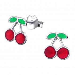 Kirschen Kinder Ohrringe aus Silber